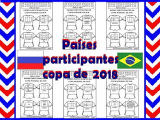 Países participantes copa 2018