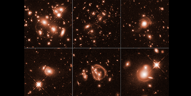 Boosted by natural magnifying lenses in space, Hubble has captured unique close-up views of the universe's brightest infrared galaxies. Credit: NASA, ESA, and J. Lowenthal (Smith College)
