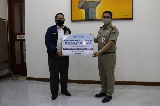 Dukung KSBB, HIPPI Donasikan 2500 Paket Sembako Untuk Warga Jakarta Terdampak Covid-19