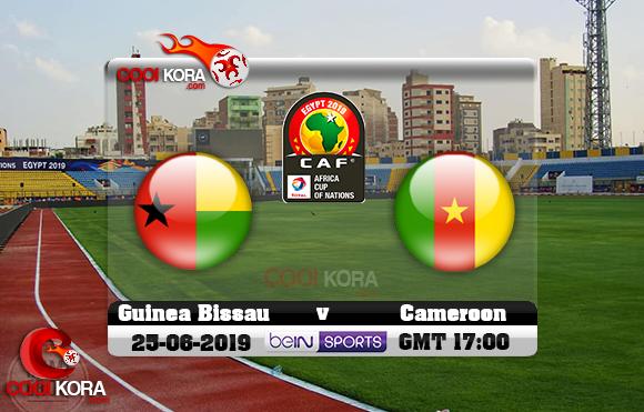 مشاهدة مباراة الكاميرون وغينيا بيساو اليوم 25-6-2019 علي بي أن ماكس كأس الأمم الأفريقية 2019