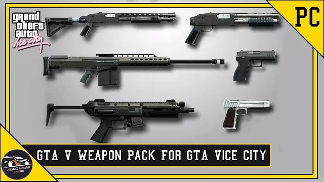 GTA Vice City GTA 5 Weapon Pack Mod | GTA Vice City Mods