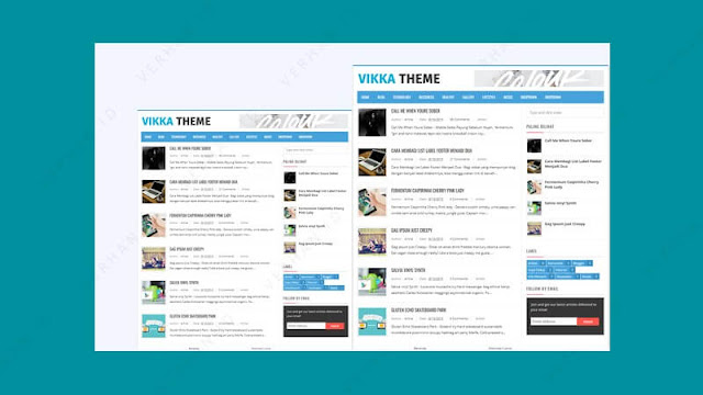 template blogspot adsense vikka