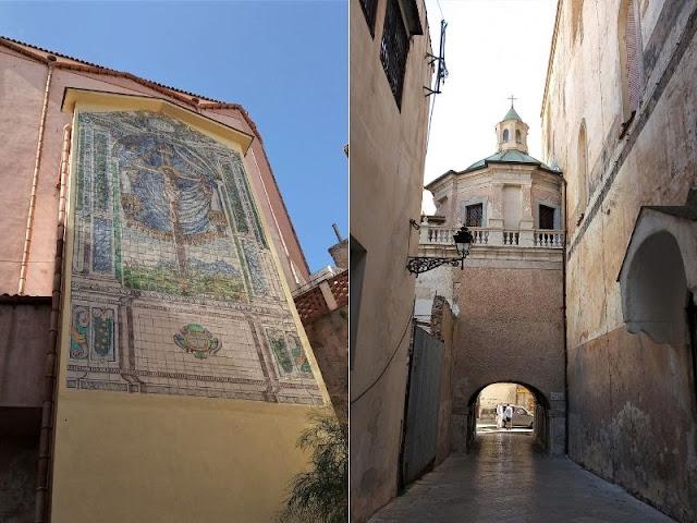 mosaico nel centro storico di monreale e duomo
