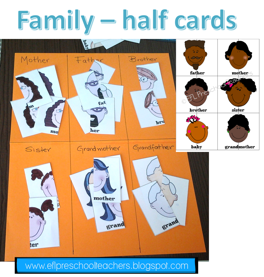 Esl Efl Preschool Teachers Family Theme For Esl