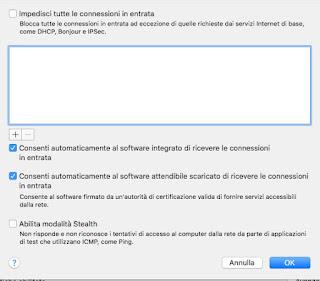 Firewall avanzato Mac