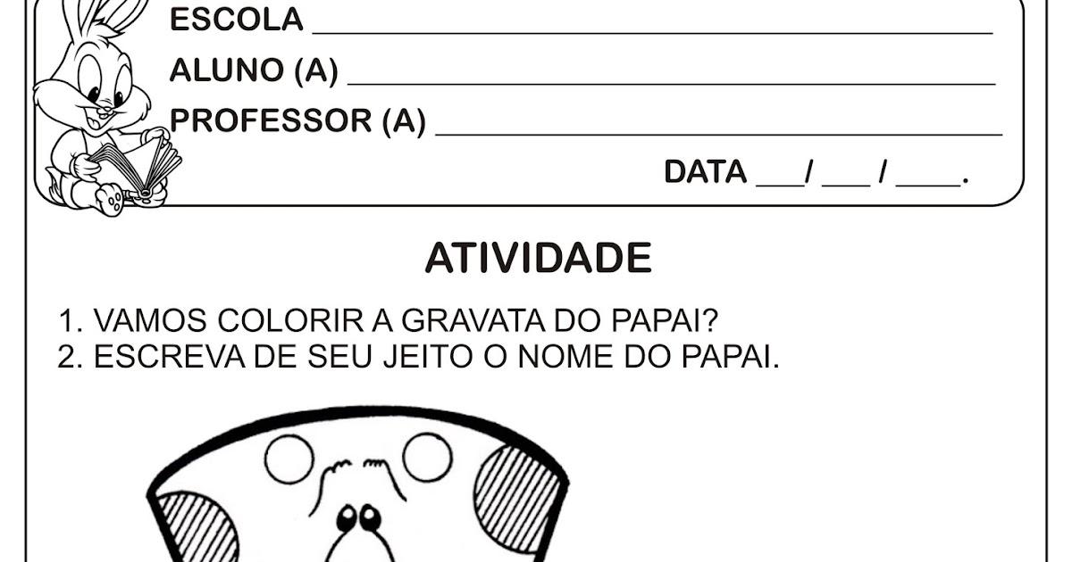 Atividade Dia Dos Pais Educacao Infantil