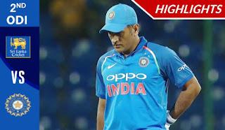 Cricket Highlights - Sri Lanka vs India 2nd ODI 2017