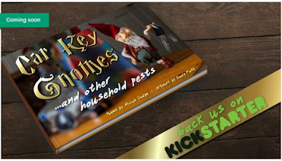 Car key gnomes and other household pests - print screen of kickstarted cover page