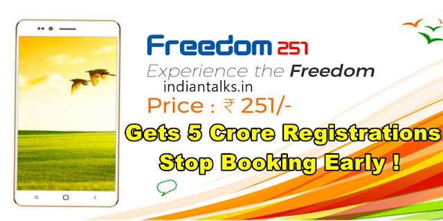 Ringing Bells Freedom 251 Gets 5 Crore Registrations