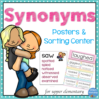 Click here for more information on Synonym Sorts and Word Walls.