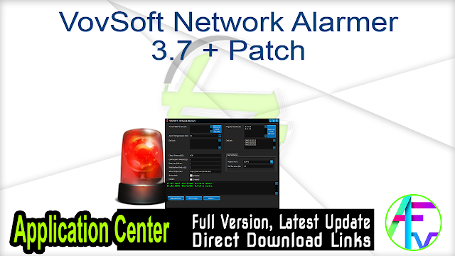 VovSoft Network Alarmer 3.7 + Patch