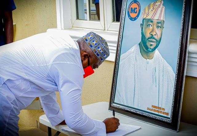 Lagos Speaker, Members Pay Condolence Visit To Senator Bayo Osinowo's Family.