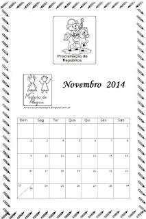 Calendário novembro 2014