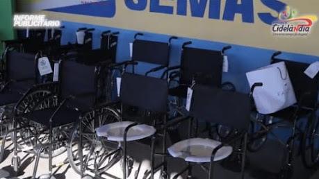 Foram entregues várias cadeiras de rodas e de banho no Arraial da Assistência Social de Cidelândia!!!