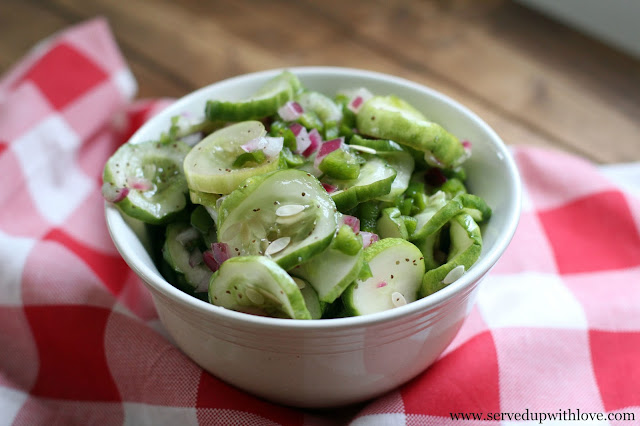 Cucumber Salad recipe from Served Up With Love