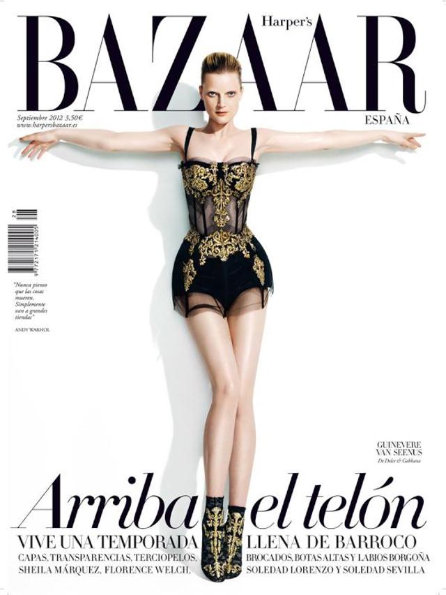 Guinevere Van Seenus Dolce & Gabbana Harper's Bazaar Spain
