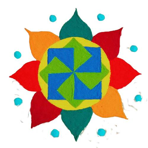 colourful simple rangoli designs