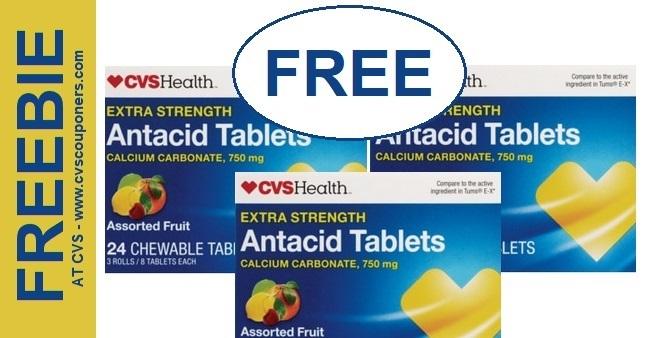FREE CVS Health Antacid Tablets at CVS 1124-1130