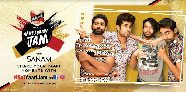 McDowell's No.1 Yaari Jam releases a new single 'Apni Yaari' with SANAM on Friendship day