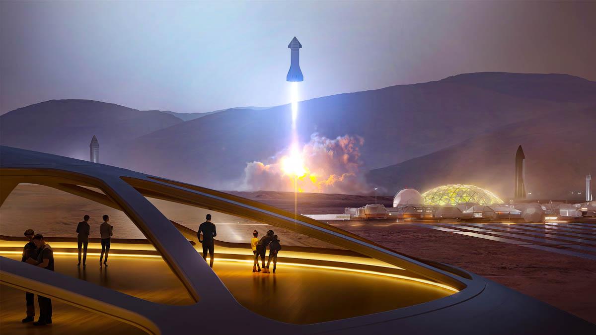 SpaceX pode lançar missão rumo a Marte em 2024