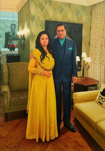 Ritu Dhawan with her husband Raja