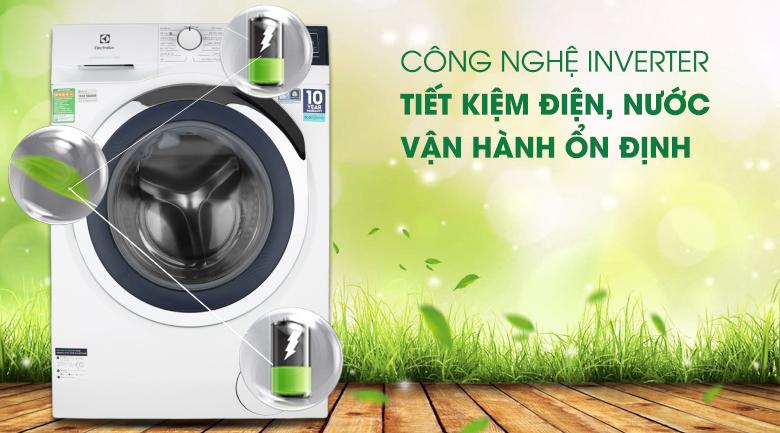 Máy giặt Electrolux EWF9024BDWB - Công nghệ Inverter mang lại hiệu quả tiết kiệm điện – nước