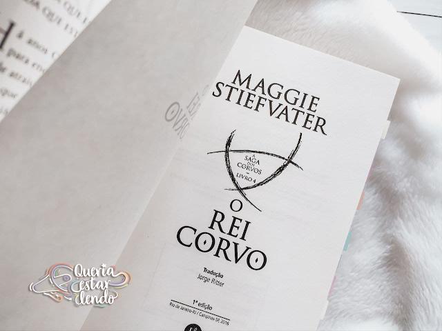 Resenha: O Rei Corvo - Maggie Stiefvater