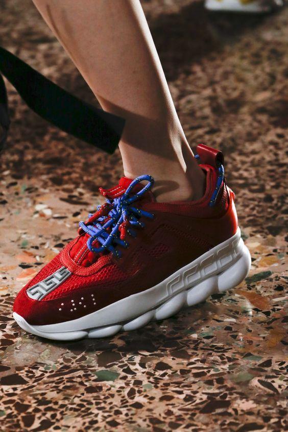 Versace Sneakers in Red Color