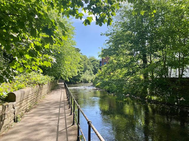 Walkway alongside the Water of Leith, Edinburgh, Scotland