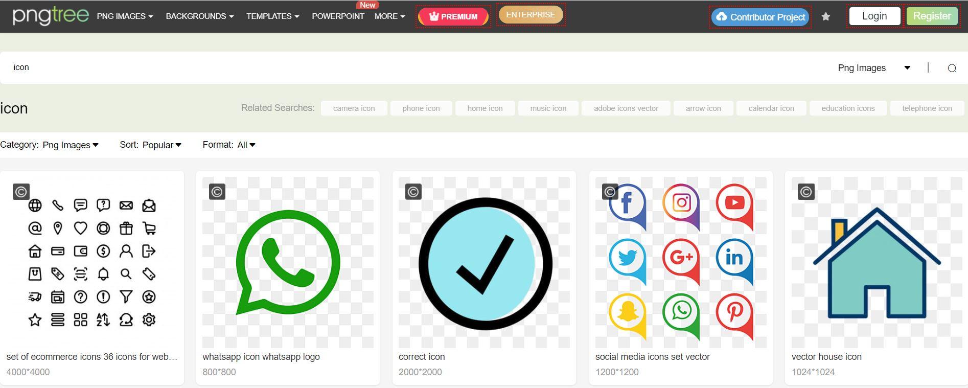Pngtree has amassed millions of unique graphic design tools