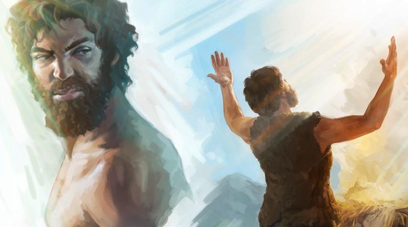 ilustração da inveja de Caim sobre a oferta de Abel