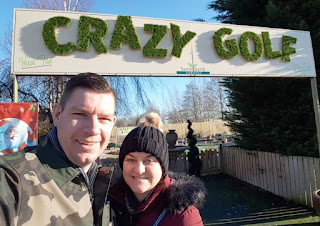 Crazy Golf at the Yorkshire Ice Cream Farm in Hatfield, Doncaster