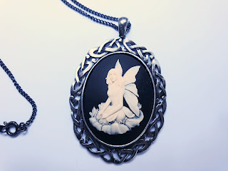 Cameo necklace Fallen Fairy by Gothic White Witch