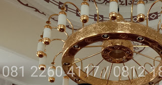 lampu nabawi masjid kerajinan tembaga dan kuningan