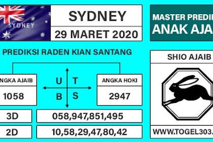 Angka Main Jitu Togel Sydney Minggu 29 Maret 2020