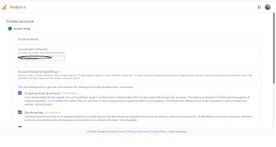 Google analytics add account name