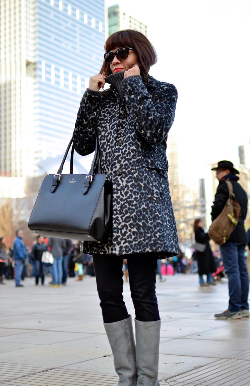 Loft leopard coat