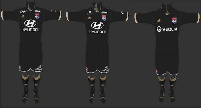 new style 50b59 9b7d3 Olympique Lyon Full Kits 2016-2017 V.4 - PES 2013 - PATCH ...