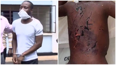 Disturbing Photos: Man brutalize His 3-year-old Son For Bedwetting