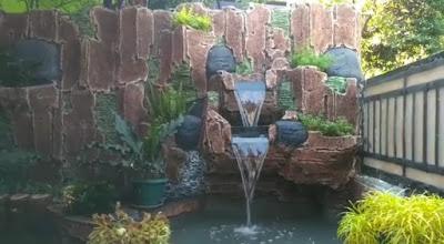 Jasa Pembuatan Relief Tebing Air Terjun di Dramaga Bogor | SuryaTaman