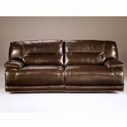 Exhilaration Chocolate Leather 2 Seat Reclining Sofa
