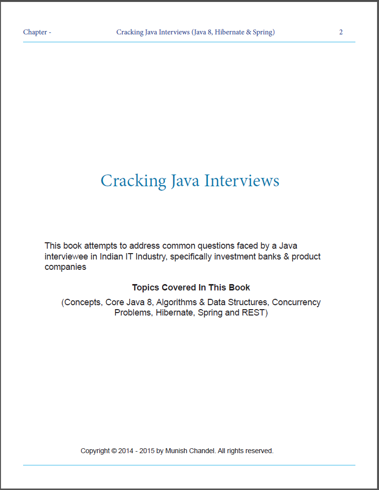 Cracking Java Interviews (Java, Algorithm, Data structure