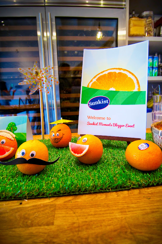 Su Shan's: Sunkist Moments Blogger Event