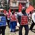 ধর্মনগরে  বাম সংগঠনের ভারত বাঁচাও কর্মসূচি  পালন - Sabuj Tripura News