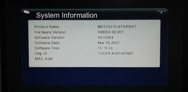 STARSAT GX6605S COMBO HW204.00.001 NEW SOFTWARE 15 MARCH 2021