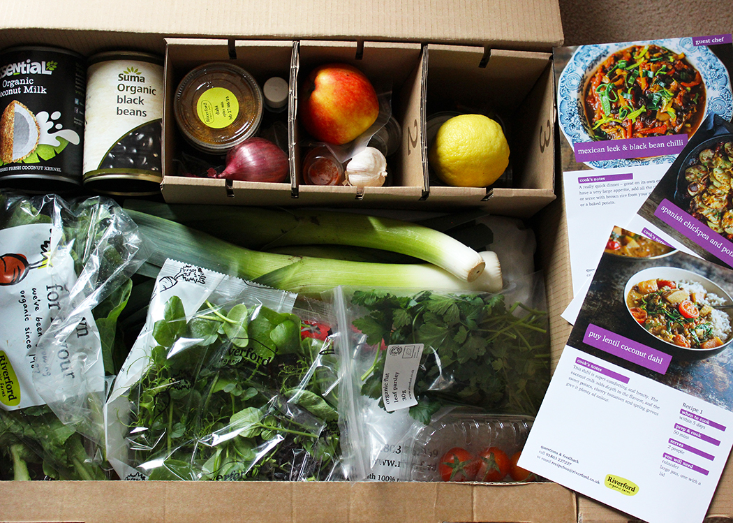 Riverford organic farms the happy pear recipe box review a glug the vegetables looked really fresh and the recipe cards made me want to cook straight away my only dilemma was which one to cook first forumfinder Gallery