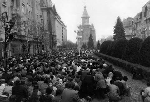 Az 1989-es népfelkelés első áldozatára, Újvárossy Ernőre emlékeztek Temesváron