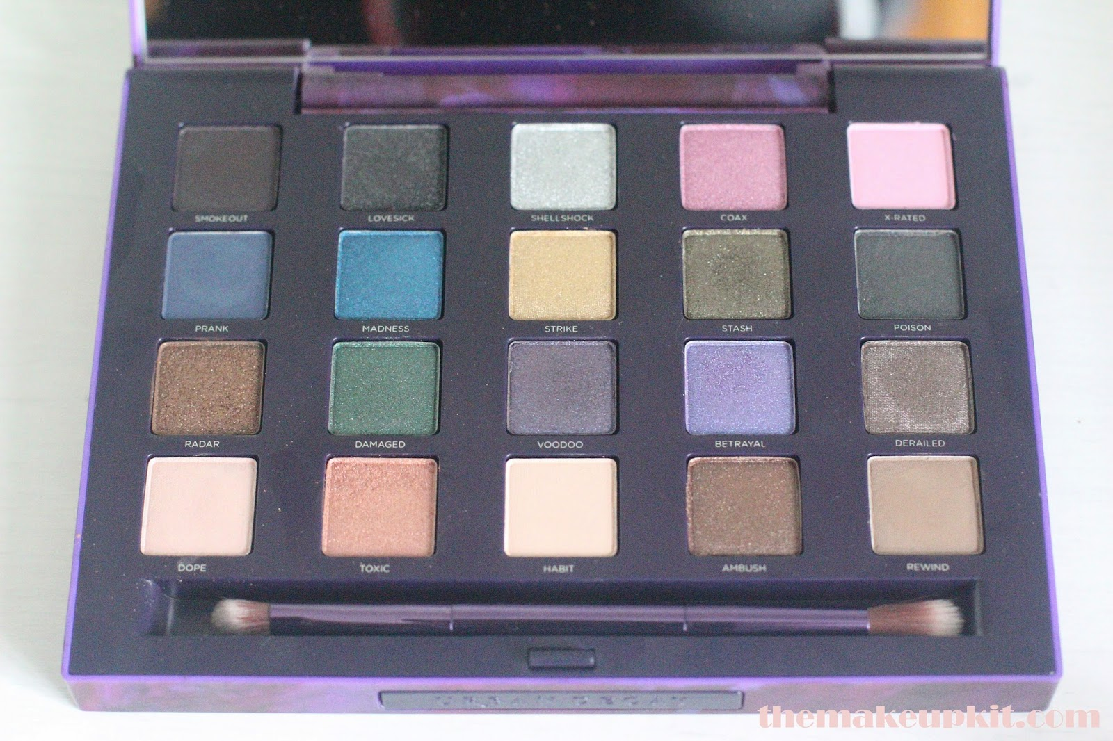 Urban Decay Vice 2 Palette Inside Eyeshadows