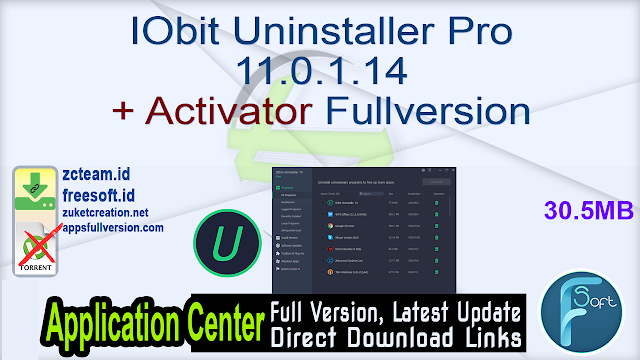 IObit Uninstaller Pro 11.0.1.14 + Activator Fullversion