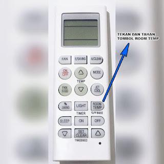 cara merubah setting suhu remote ac lg dari fahrenheit ke celcius